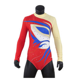 Stretchable Long Sleeve Gymnastics Leotards For Girls Sublimation Printing