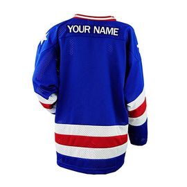 Premium College Ice Hockey Jerseys Blue Color Lightweight Lightweight