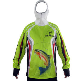 Unisex Outdoor Fishing Clothing OEM Design Hooded Fishing Shirt Multi Color