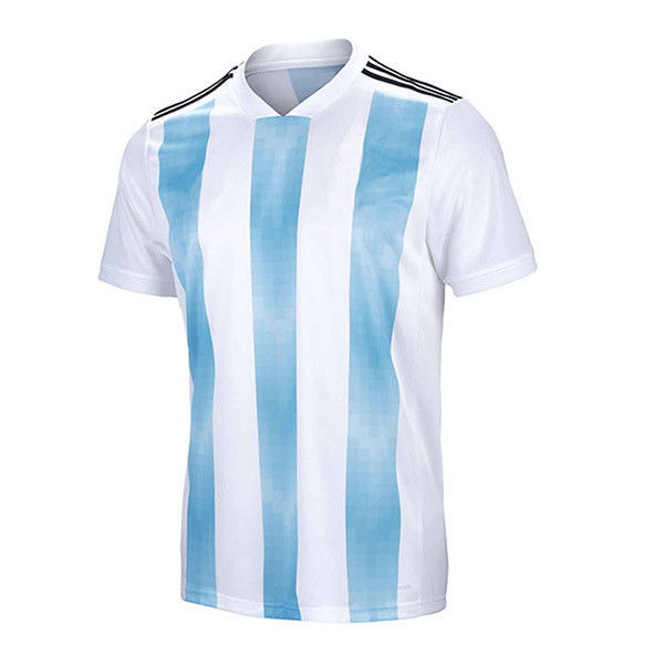 Stripes Design Soccer Sports Clothing Custom Sublimated Football Jerseys Unisex